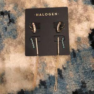 Halogen earrings set